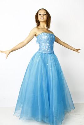 Бальное бирюзовое платье