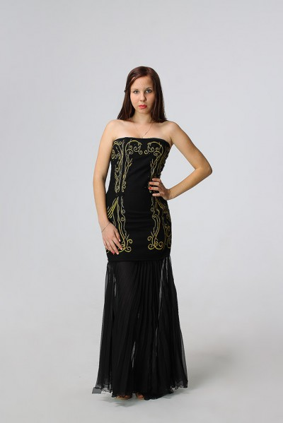 Вечернее платье с юбкой