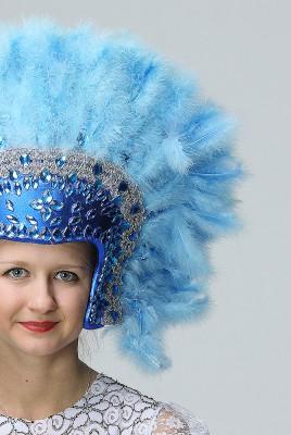 Голубой головной убор