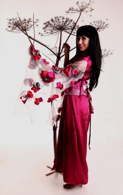 Прокат костюма Бордовое кимоно  1100 руб/сут