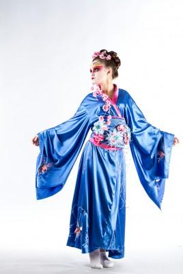 Голубое кимоно в прокат