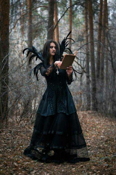 Костюм ведьмочки на хеллоуин
