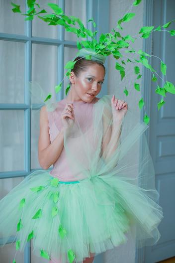 Балерина в зелёном